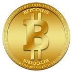 Digital coin in Green
